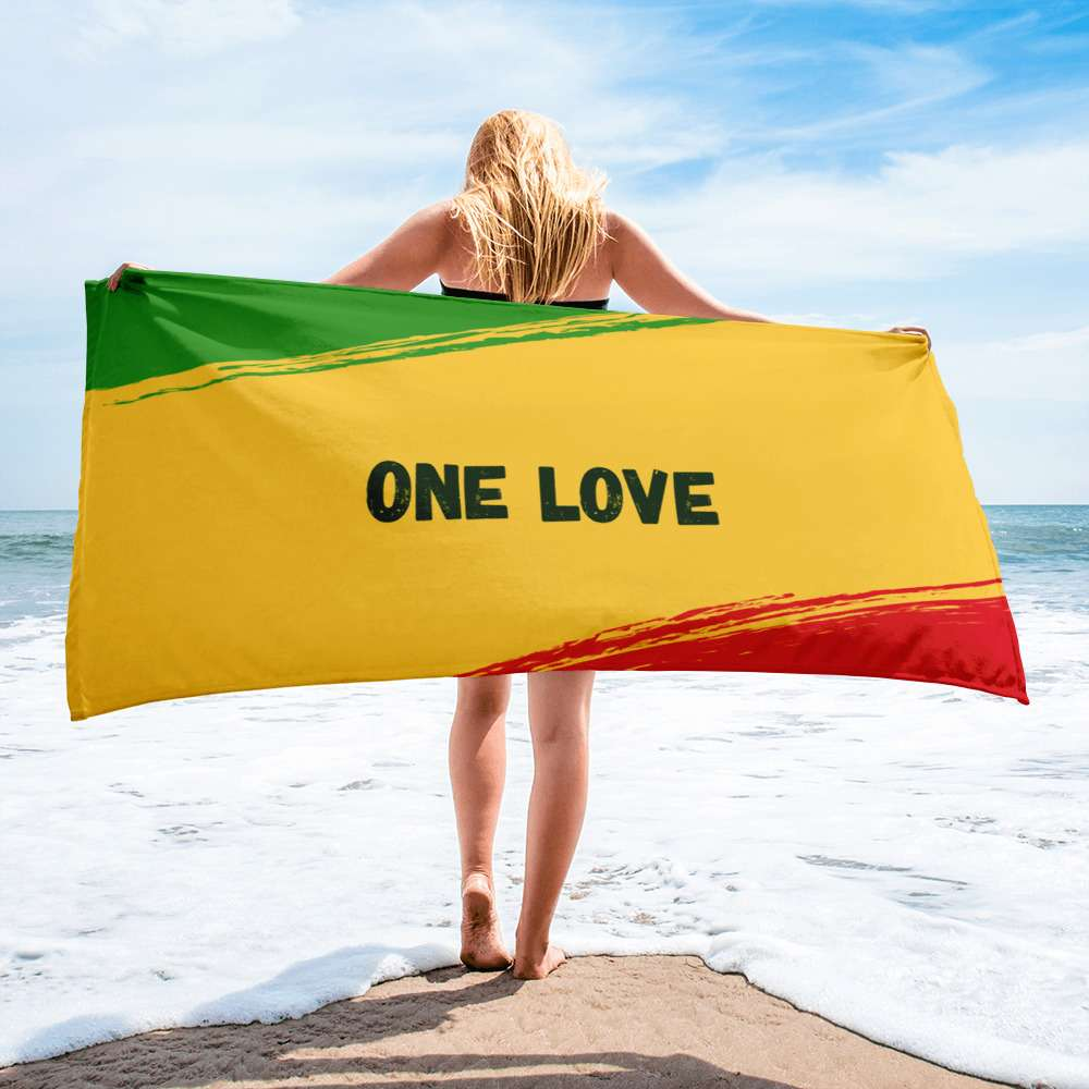 One Love Beach Towel