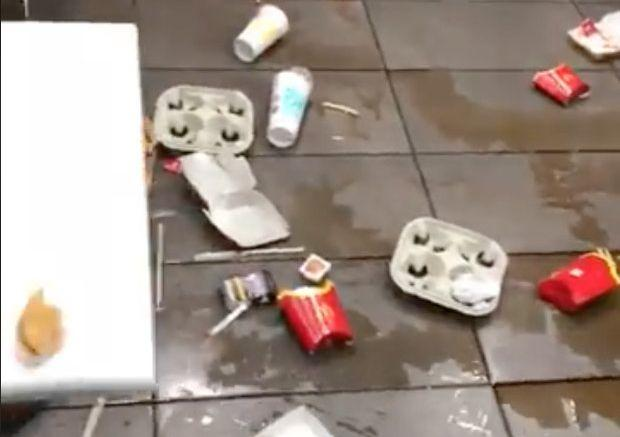 The most messy Mcdonald's restaurant in England