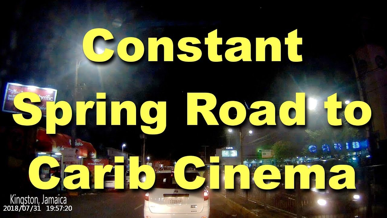 Constant Spring Road to Carib Cinema Kingston Jamaica